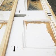 Door being repaired