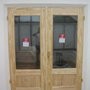Wooden french doors
