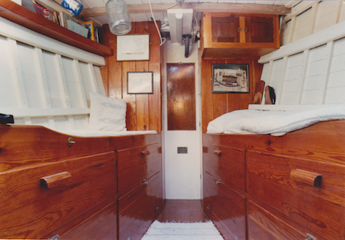 Aft bunk and cabin- sleeping quarters