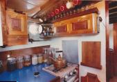 bespoke kitchen on the yacht