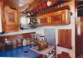 bespoke kitchen on the yacht