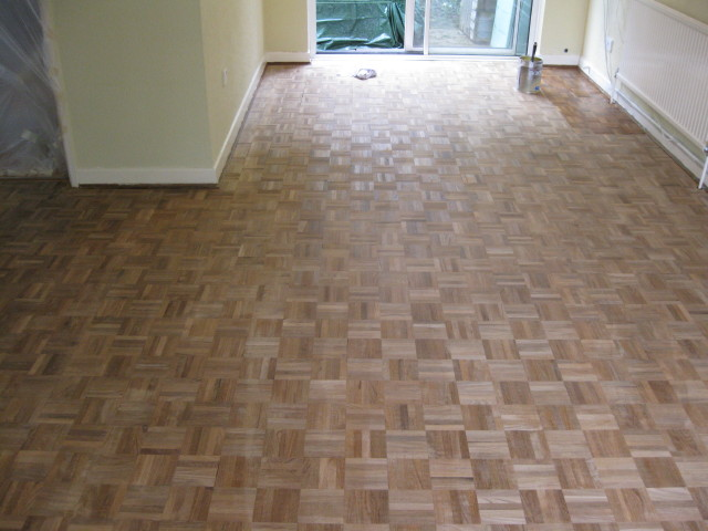 Restored Teak Parquet Flooring Carpentry Services Southampton - What to do with parquet flooring