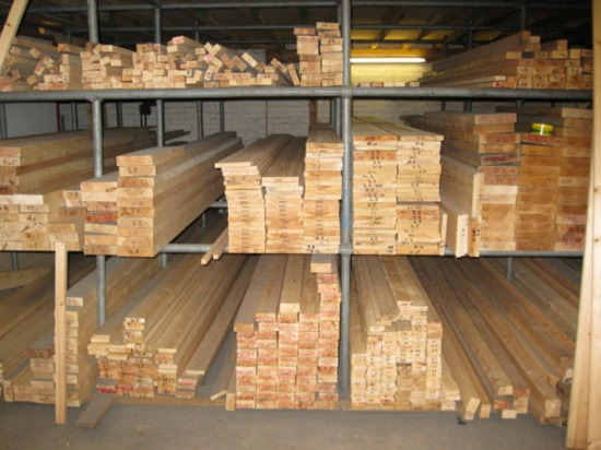 How wood should be stored