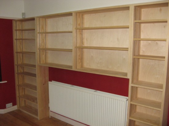 After the shelves are installed