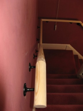 Mopstick Handrail carpentry