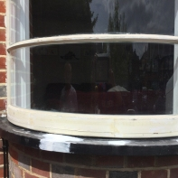 curved windows replacement finished