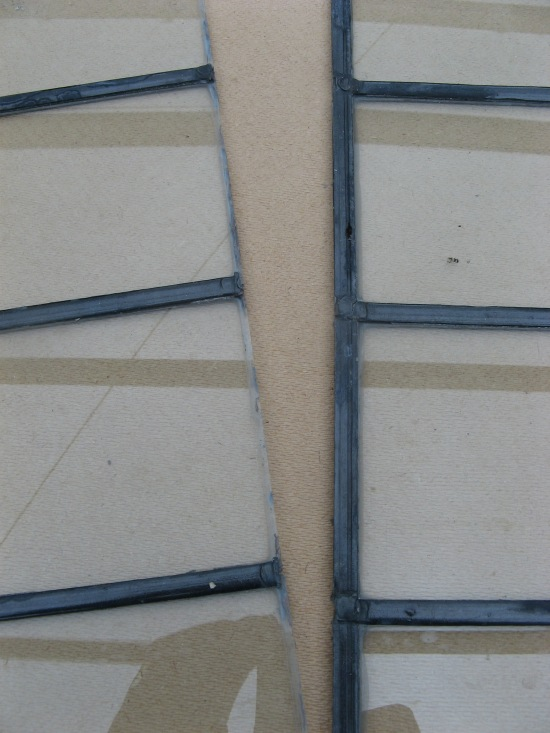 Window repairs with leaded glass edge.  An example of the service we offer in Southampton