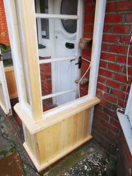 Renovation of a wooden Porch made by a carpenter in Southampton