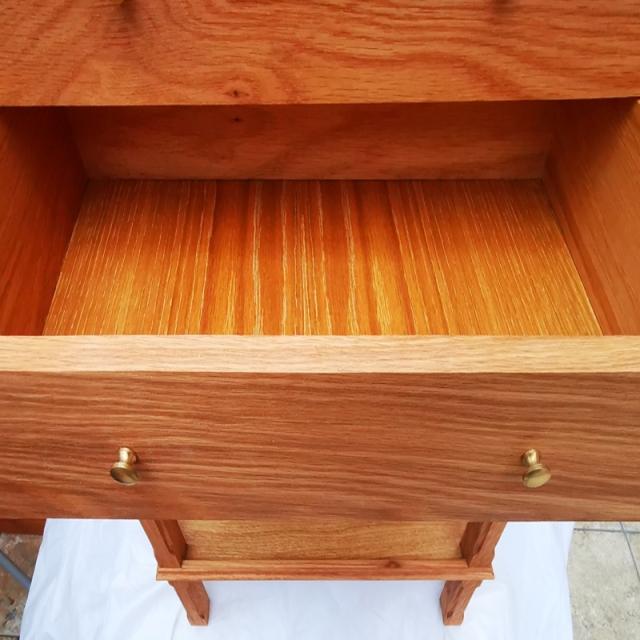 Display drawers in oak